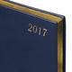 Ежедневник BRAUBERG (БРАУБЕРГ) датированный 2017, А5, 138×213 мм, «Iguana» («Игуана»), «змеиная кожа», 168 л., тем.синий,крем.блок