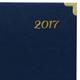 Ежедневник BRAUBERG (БРАУБЕРГ) датированный 2017, А5, 138×213 мм, «Senator» («Сенатор»), «гладкая кожа», 168 л.,металл. углы,синий