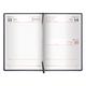 Ежедневник BRAUBERG (БРАУБЕРГ) датированный 2017, А5, 138×213 мм, «Favorite» («Фаворит»), «фактурная кожа», 168 л., черный