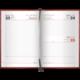 Ежедневник BRAUBERG (БРАУБЕРГ) 2017, А5, 138×213 мм, «London» («Лондон»), «гладкая кожа», 168 л., бордовый