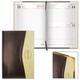 Ежедневник BRAUBERG (БРАУБЕРГ) датированный 2017, А5, 138×213 мм, «De Luxe» («Де Люкс»), «комбинированная кожа», 168 л.,корич./<wbr/>беж