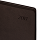 Ежедневник BRAUBERG (БРАУБЕРГ) 2017, А5, 138×213 мм, «Stylish» («Стайлиш»), «фактурная кожа»,интегр. обложка,прокрас среза, корич.
