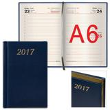 Ежедневник BRAUBERG (БРАУБЕРГ) датированный 2017, А6, 100×150 мм, «Iguana» («Игуана»), «змеиная кожа», 168 л.,тем.-синий,крем. бл.