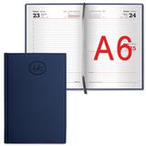 Ежедневник BRAUBERG (БРАУБЕРГ) датированный 2017, А6, 100×150 мм, «Favorite» («Фаворит»), «фактурная кожа», 168 л., темно-синий