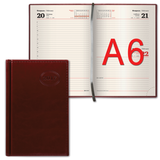 Ежедневник BRAUBERG (БРАУБЕРГ) 2017, А6, 100×150 мм, «Imperial» («Империал»), «гладкая кожа», 168 л., коричневый, кремовый блок