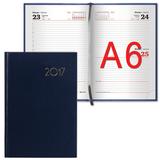 Ежедневник BRAUBERG (БРАУБЕРГ) 2017, А6, 100×150 мм, «Select» («Селект»), «кожа классик», 168 л., темно-синий