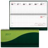 Планинг настольный BRAUBERG (БРАУБЕРГ) датированный 2017, 305×140 мм, «Bond» («Бонд»), «комбинированная кожа», 60 л., зелен./<wbr/>салат