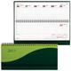 Планинг настольный BRAUBERG (БРАУБЕРГ) 2017, 305×140 мм, «Bond» («Бонд»), «комбинированная кожа», 60 л., зеленый/<wbr/>салатовый