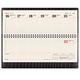 Планинг настольный BRAUBERG (БРАУБЕРГ) 2017, 305×140 мм, «Comodo» («Комодо»), «крокодиловая кожа», 60 л., черный, кремовый блок