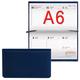 Еженедельник BRAUBERG (БРАУБЕРГ) датированный 2017, А6, 95×155 мм, «London» («Лондон»), «матовая кожа», 64 л., синий