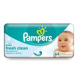 Салфетки влажные, 64 шт., PAMPERS (Памперс) «Baby Fresh Clean», для нежного очищения