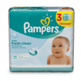 �������� ������� PAMPERS (�������) «Baby Fresh Clean», 3×64 ��., ��� ������� ��������