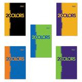 Блокнот А7, 48 л., склейка, 3-х цветный блок, HATBER, «2COLORS», 65×100 мм