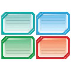 Наклейка для тетрадей, HATBER, европодвес, комплект 16 шт., «Цветная», 165×200 мм, Накл 14729