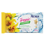 Салфетки влажные, 15 шт., AURA «Tropic cocktail», универсальные, очищающие