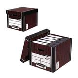 Короб архивный FELLOWES Bankers Box «Woodgrain», 32,5×28,5×38,5 см, с крышкой, гофрокартон