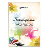 Портфолио ШКОЛЬНИКА BRAUBERG (БРАУБЕРГ), 32 л., внутренний блок (титульный лист, содержание, 30 разделов), «Моё портфолио»