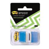 Закладки самоклеящиеся POST-IT Study, пластиковые, 25 мм, 22 шт., синие