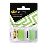 Закладки самоклеящиеся POST-IT Study, пластиковые, 25 мм, 22 шт., зеленые