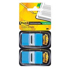 Закладки клейкие POST-IT Professional, пластиковые, 25 мм, 100 шт., голубые