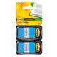 Закладки самоклеящиеся POST-IT Professional, пластиковые, 25 мм, 100 шт., голубые
