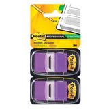 Закладки самоклеящиеся POST-IT Professional, пластиковые, 25 мм, 100 шт., фиолетовые
