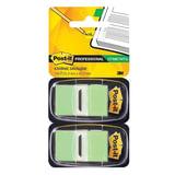 Закладки самоклеящиеся POST-IT Professional, пластиковые, 25 мм, 100 шт., светло-зеленые
