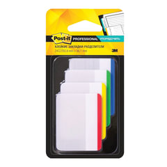 Закладки клейкие POST-IT Professional, пластик, 50 мм, 4 цвета х 6 шт., суперклейкие
