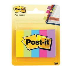 Закладки клейкие POST-IT Professional, бумажные, 12,7 мм, 5 цветов х 100 шт.