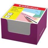 Блок для записей ERICH KRAUSE в подставке картонной розовой, куб, 8×8×5 см, белый