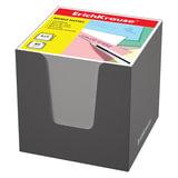 Блок для записей ERICH KRAUSE в подставке картонной серой, куб, 8×8×8 см, белый