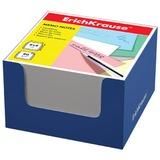 Блок для записей ERICH KRAUSE в подставке картонной синей, куб, 8×8×5 см, белый
