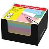 Блок для записей ERICH KRAUSE в подставке картонной черной, куб, 8×8×5 см, цветной