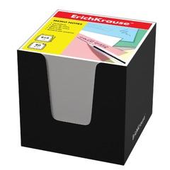 Блок для записей ERICH KRAUSE в подставке картонной черной, куб, 8×8×8 см, белый, белизна 95-98%