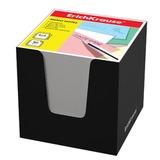 Блок для записей ERICH KRAUSE в подставке картонной черной, куб, 8×8×8 см, белый