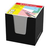 Блок для записей ERICH KRAUSE в подставке картонной черной, куб, 9×9×9 см, белый