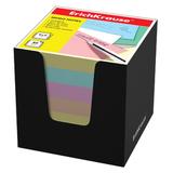 Блок для записей ERICH KRAUSE в подставке картонной черной, куб, 9×9×9 см, цветной