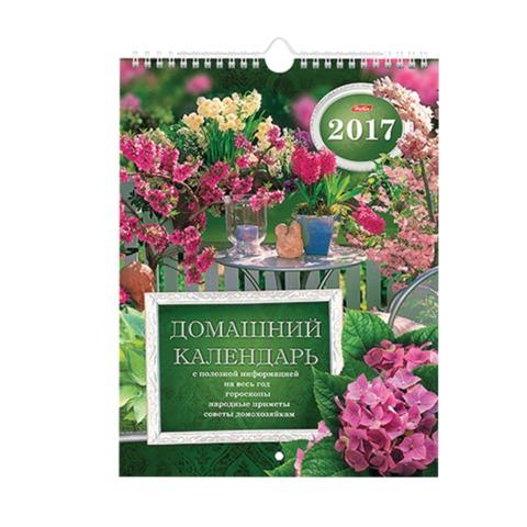 Календарь на гребне с ригелем на 2017 г., 22×30 см, HATBER, 12 л., «Дачная романтика»