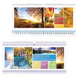 Календарь на гребне с ригелем на 2017 г., 30×60 см, HATBER, 6 л., «Дыхание природы»