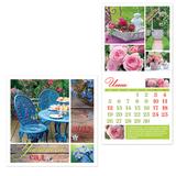 Календарь настенный перекидной на 2017 г., 12 л., 30×30 см, HATBER, «Уютный сад»
