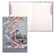 Блокнот 7БЦ, А5, 80 л., металлик, 5-цветной блок, HATBER, «Снежная рябина»