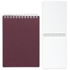 Блокнот А5, 80 л., гребень, пластиковая обложка, HATBER, «Бордо», 145×205 мм, 80Б5В1гр 03406