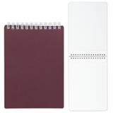 Блокнот А5, 80 л., гребень, пластиковая обложка, HATBER, «Бордо», 145×205 мм