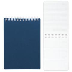Блокнот А5, 80 л., гребень, пластиковая обложка, HATBER, «Темно-синий», 145×205 мм, 80Б5В1гр 03411