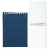 Блокнот А5, 80 л., гребень, пластиковая обложка, HATBER, «Темно-синий», 145×205 мм