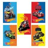 Блокнот А7, 48 л., склейка, 3-х цветный блок, HATBER, «Машинки-(Hot wheels)», 65×100 мм, 48Б7В1к