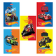 Блокнот А7, 48 л., склейка, 3-х цветный блок, HATBER, «Машинки-(Hot wheels)», 65×100 мм