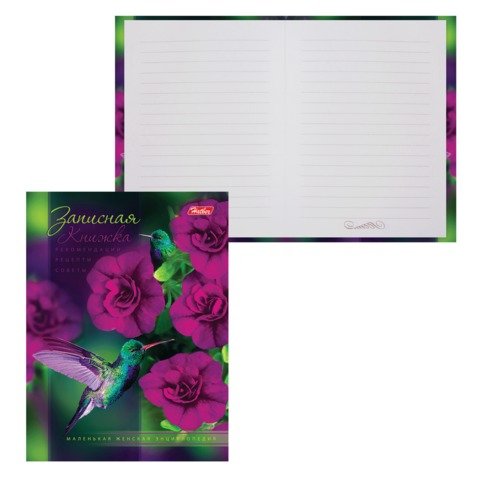 Записная книжка женщины, 7БЦ, А6, 160 л., обложка ламинированная, HATBER, «Удивительный мир», 160ЗКс6 12950