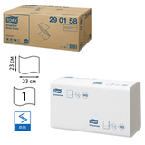 Полотенца бумажные 300 шт., TORK (H3) Universal, комплект 15 шт., белые, 23×23 см, ZZ(C), диспенсеры 600163, 601662