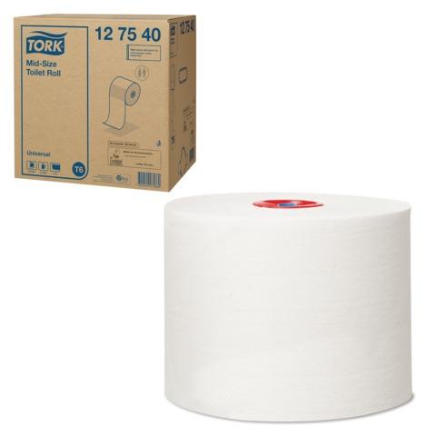 Бумага туалетная 135 м, TORK (Т6), комплект 27 шт., Universal, белая, диспенсеры 601568, 601665, 127540